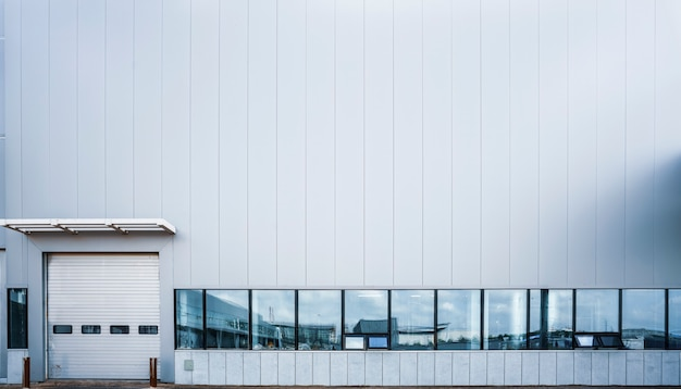 Moderne fabrikgebäude und logistiklager