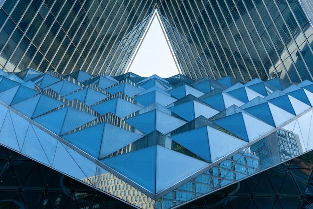 Moderne gebäudestruktur, geometrische gebäudestruktur
