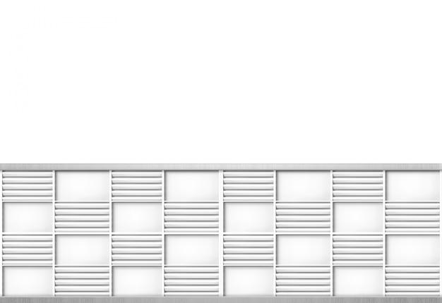 Moderne graue täfelung im quadrat