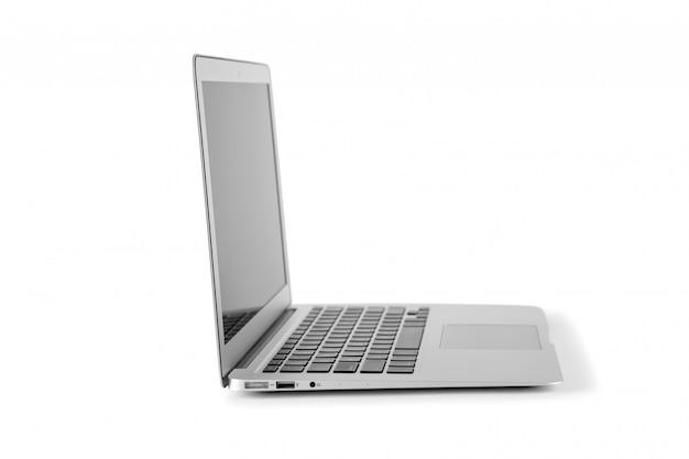Moderne laptop-computer getrennt auf dem weiß