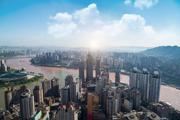 Moderne metropole skyline