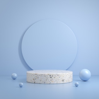 Moderne minimale saubere weiße steinmarmorszene primitive form