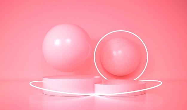 Moderne minimalistische modellpodestanzeige. 3d-illustration