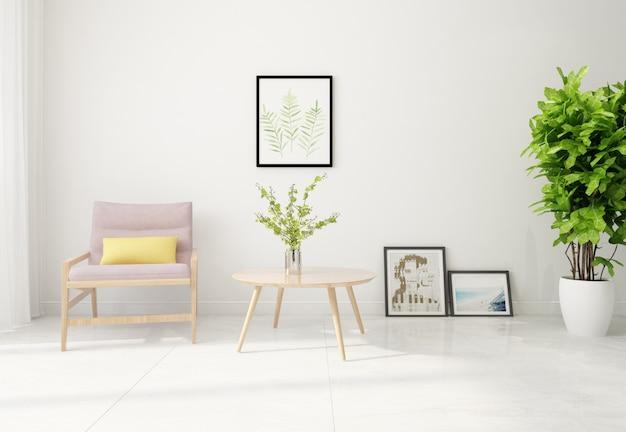 Moderne möbel im schlichten stil