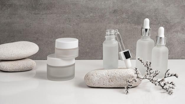 Moderne schönheitsprodukte in empfängerzusammensetzung