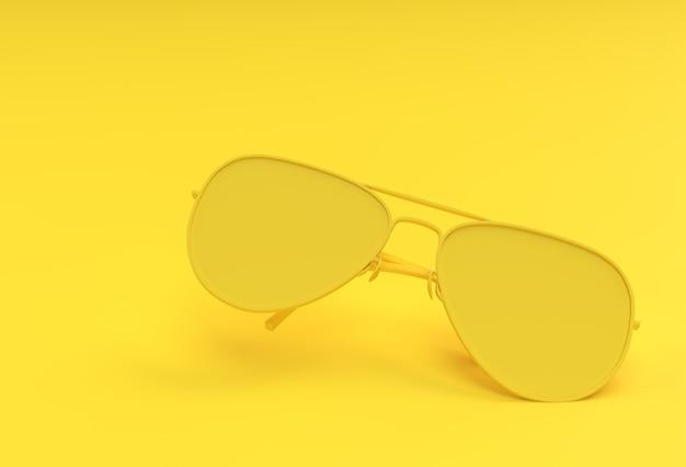 Moderne sonnenbrillen. 3d-render-abbildung
