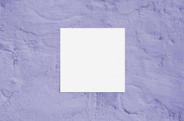 Moderne sonnenlichtbriefpapier-modellszene des sommers. leere grußkarte der flachen draufsicht auf schmutzvioletthintergrund des schmutzes.