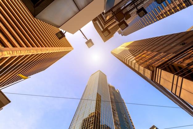 Moderne stadt wolkenkratzer, zentral, hong kong, china.