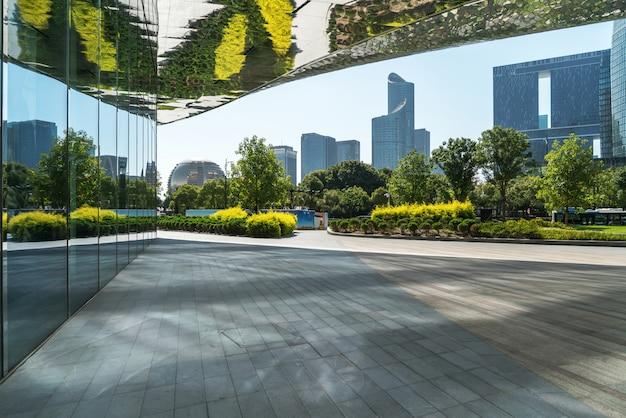 Moderne städtische architektur, finanzplatzpiazza in hangzhou, china