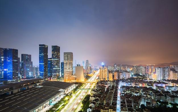 Moderne städtische architekturlandschaft in shenzhen, china
