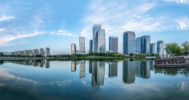 Moderne städtische architekturlandschaft in zibo, china