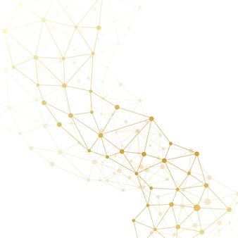 Moderne strukturmolekül-dna. atom. molekül- und kommunikationshintergrund für medizin, wissenschaft, technik, chemie. medizinischer wissenschaftlicher hintergrund, illustration.