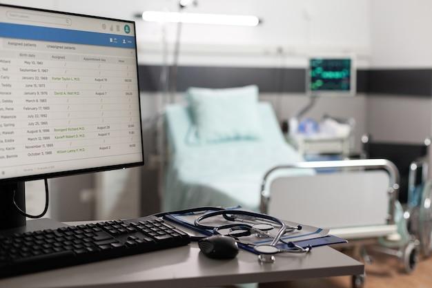 Moderne technik in der krankenstation zur pflege kranker patienten zur vollständigen genesung