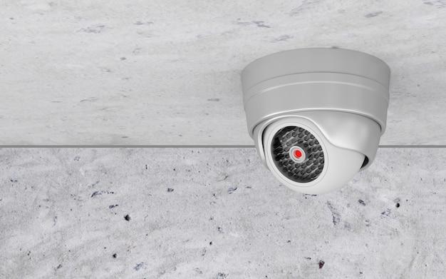 Moderne überwachungskamera an der decke