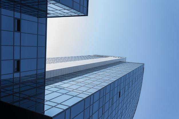 Moderne urbane architektur. metall. glas.