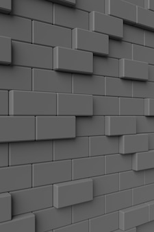 Moderne wand. 3d-rendering.