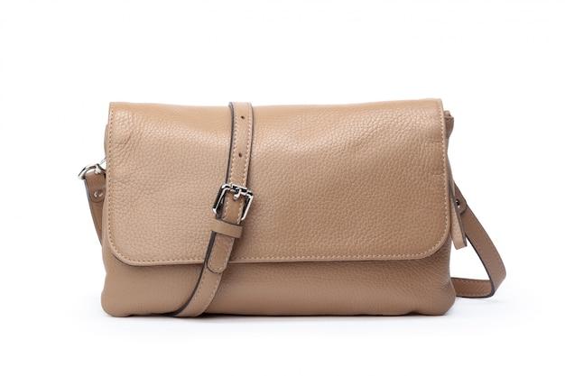 Moderne weibliche handtasche auf weiß