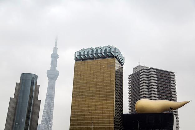 Moderne wolkenkratzer in tokyo, japan