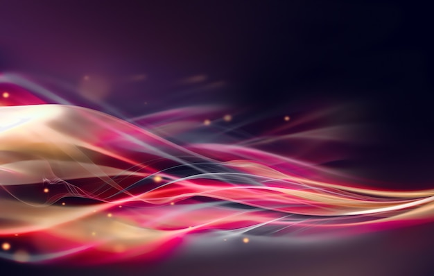 Moderner abstrakter hintergrund mit leuchtenden wellenlinien