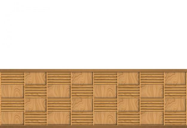 Moderner brauner hölzerner quadratischer rahmen