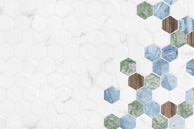 Moderner hexagon deckte hintergrund mit ziegeln