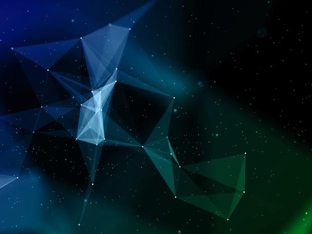 Moderner hintergrund des 3d-plexus mit abstraktem niedrigem polydesign