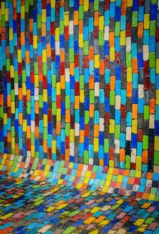 Moderner hintergrund des keramischen musters von mehrfarbigem