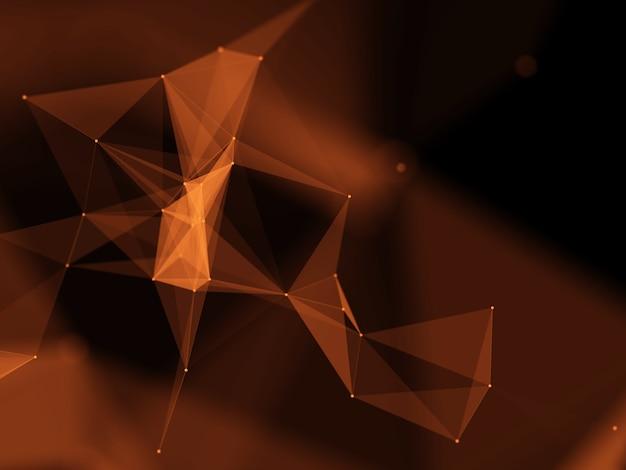 Moderner hintergrund des plexus mit abstrakten niedrigen polyformen
