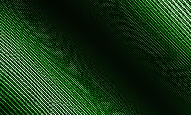 Moderner hintergrund mit verzerrtem grünem kohlefasermaterial
