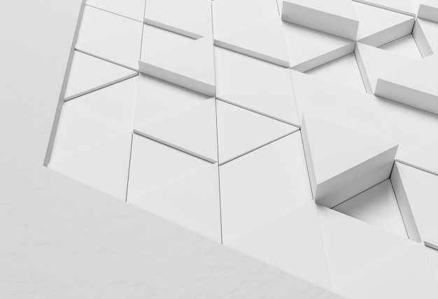Moderner hintergrund mit weißen formen