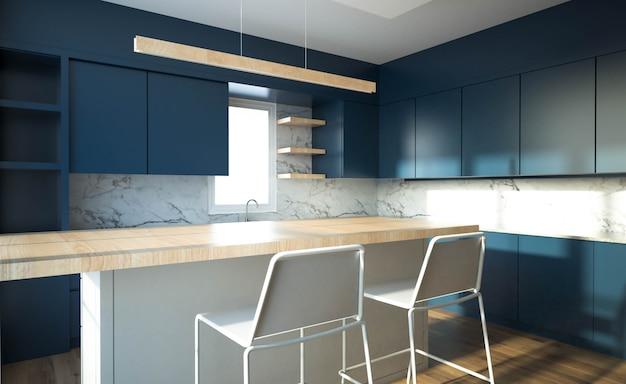 Moderner kücheninnenraum mit möbeln.