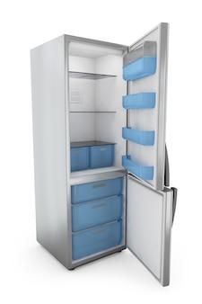 Moderner kühlschrank mit offenen türen