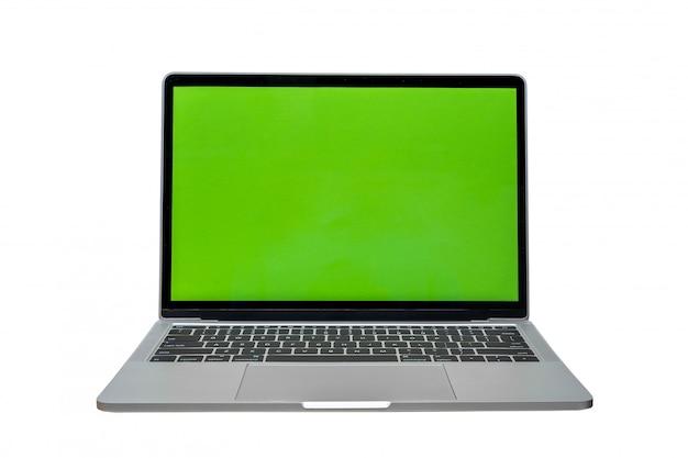 Moderner laptop getrennt auf weiß