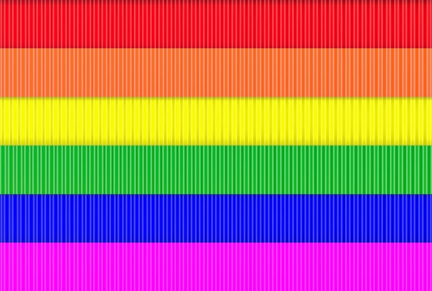 Moderner lgbt regenbogenflaggenmetallwandhintergrund.