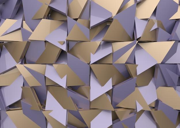 Moderner lila und brauner farbmischungspolygonform-musterwandhintergrund.
