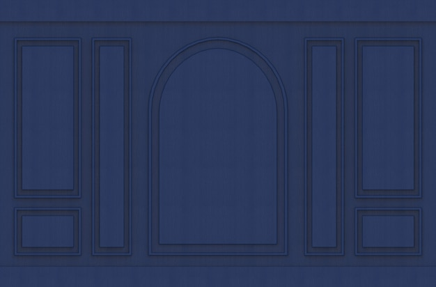 Moderner luxuriöser dunkelblauer klassischer musterdesignweinlesewandhintergrund.