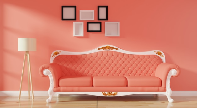 Moderner luxusinnenraum des wohnzimmers