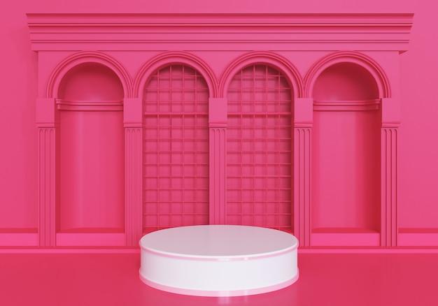 Moderner minimalist für podestplatz oder showcase.