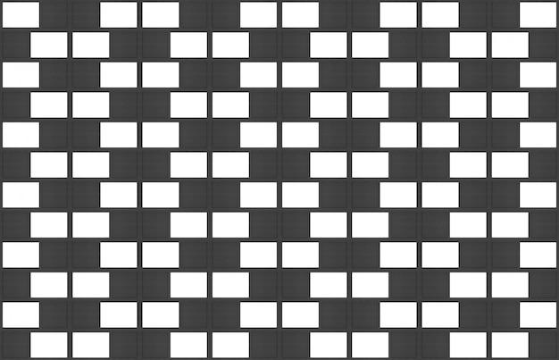 Moderner nahtloser weißer und schwarzer backsteinblockwand-beschaffenheitsdesignhintergrund.