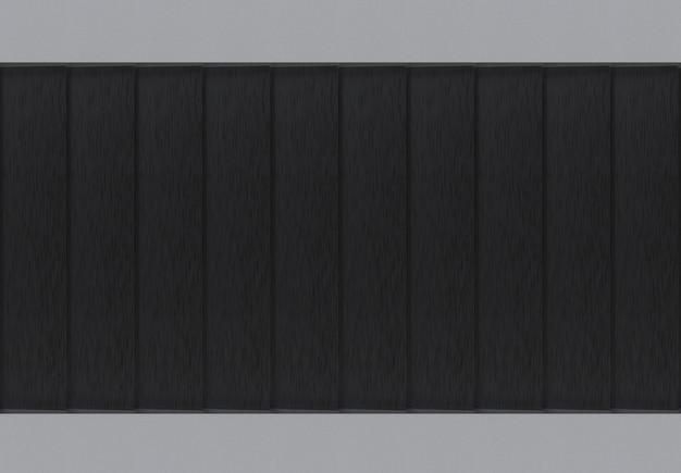 Moderner schwarzer metallplattenplattenreihenwand-designhintergrund.