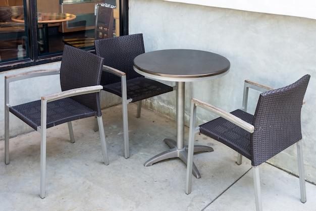 Moderner stuhl eingestellt