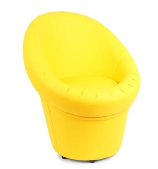 Moderner stuhl lokalisiert auf weißer oberfläche