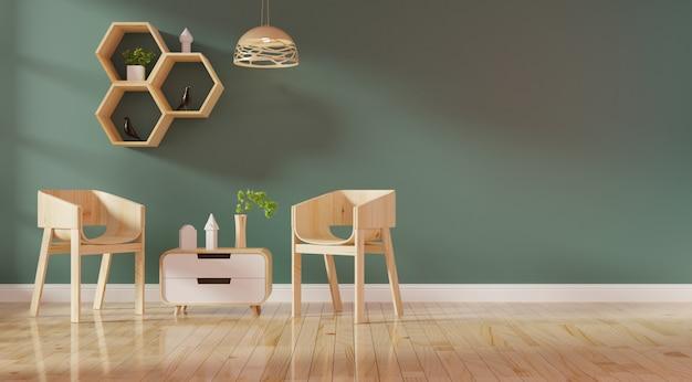 Moderner wohnzimmerinnenraum mit lebendem korallenrotem farbensofa und grünpflanzen
