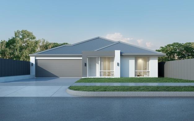 Modernes australisches haus mit garage