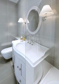 Modernes badezimmer im klassischen stil