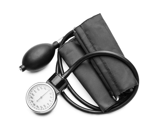 Modernes blutdruckmessgerät isoliert