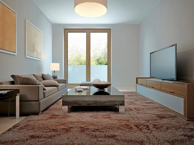 Modernes design im wohnzimmer