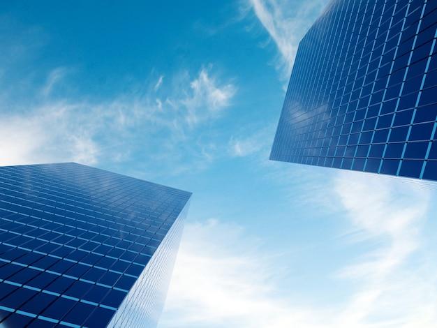Modernes finanzimmobiliengebäude für geschäftsunternehmen