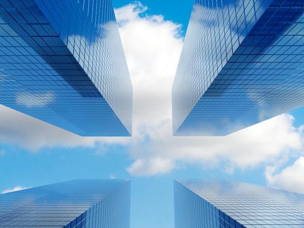 Modernes finanzimmobiliengebäude für unternehmen