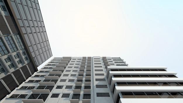 Modernes gebäude für immobilien- und immobilieninvestitionen